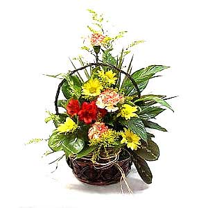 Flowers and Foliage Basket