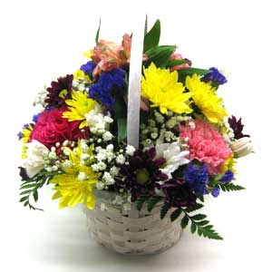 Cheerful Basket Bouquet