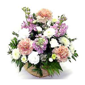 Pastel Basket Bouquet