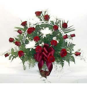 Red Rose Sympathy Basket