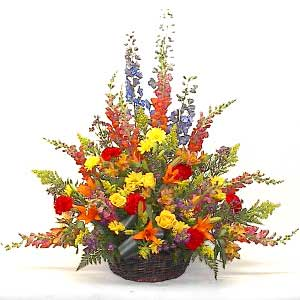 Garden Meadow Tribute Sympathy Basket